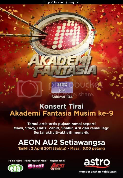 konsert tirai af9 poster - Konsert Tirai Akademi Fantasia 9 (2011) SDTV