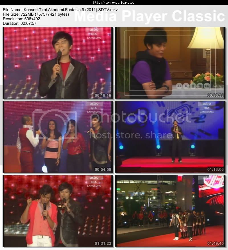 konsert tirai af9 screen - Konsert Tirai Akademi Fantasia 9 (2011) SDTV